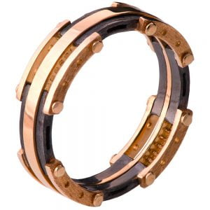 Men's Wedding Band Rose Gold BNG3