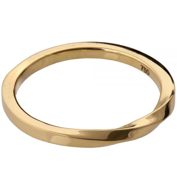 Mobius Wedding Band Yellow Gold 1 Doron Merav
