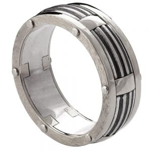Men's Wedding Band White Gold BNG10