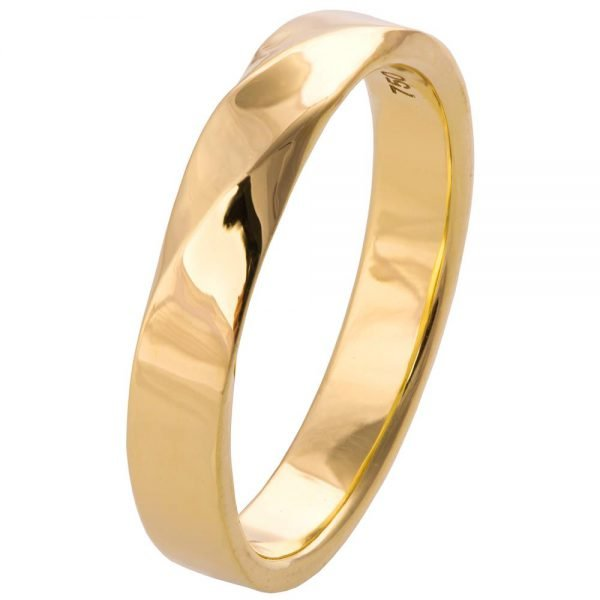 Mobius Wedding Band Yellow Gold
