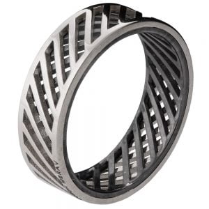 Men's Wedding Band White Gold Grid 3