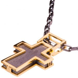 Men's Cross Pendant Rose Gold