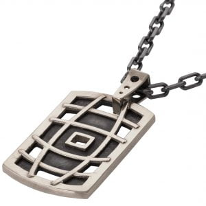 Men's Dog Tag Pendant Platinum 1