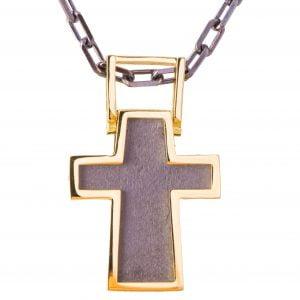 Men's Cross Pendant Yellow