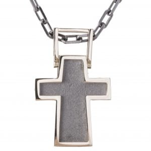 Men's Cross Pendant White Gold