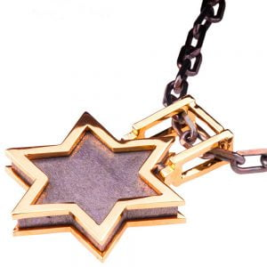 Men's Pendant Rose Gold Star of David