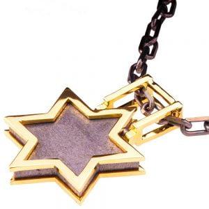 Men's Pendant Yellow Gold Star of David