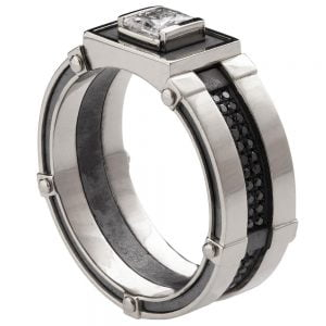 Men's Signet Ring Platinum and Diamonds BNG15