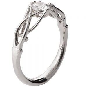 Celtic Engagement Ring Platinum and Diamonds ENG9