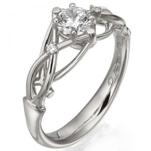 Celtic Engagement Ring White Gold and Diamonds ENG9