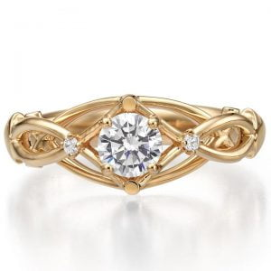 Celtic Engagement Ring Rose Gold and Diamonds ENG9