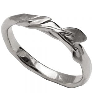 Leaves Ring #9 Platinum Ring