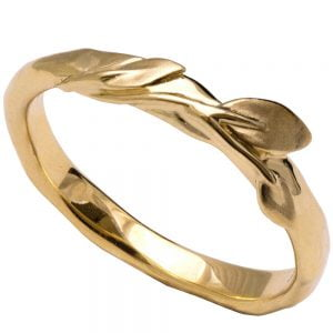 Leaves Ring #9 Yellow Gold Ring