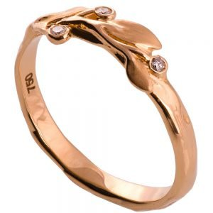 Leaves Ring #9D Rose Gold Diamond Ring