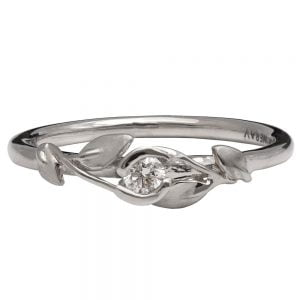 Leaves Engagement Ring #14 Platinum and Diamond Catalogue