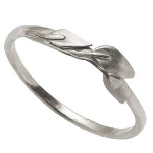 Leaves Ring #1 Platinum Ring