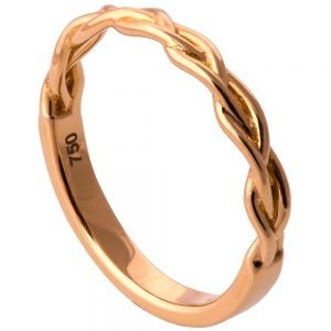 Braided Wedding Band Rose Gold 4