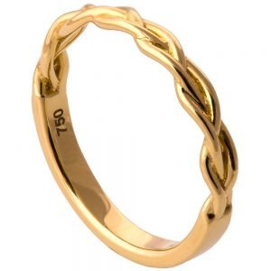 Braided Wedding Band Yellow Gold 4