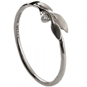 Leaves Ring #1D Platinum Diamond Ring