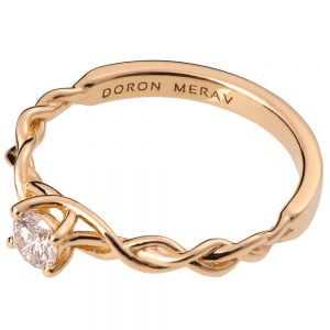 Braided Engagement Ring Rose Gold and Diamond 2S