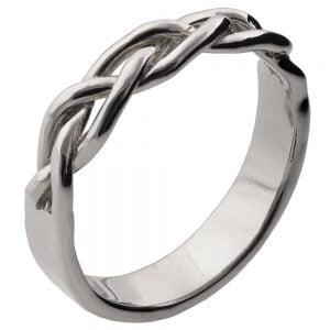 Braided Wedding Band Platinum 6