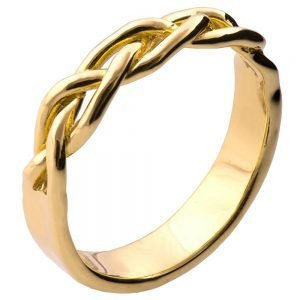 Braided Wedding Band Yellow Gold 6
