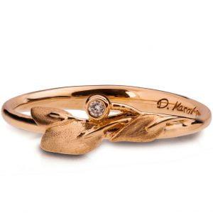 Leaves Ring #1D White Gold Diamond Ring