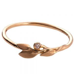 Leaves Ring #1D Rose Gold Diamond Ring