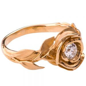 Rose Engagement Ring #1 Rose Gold and Diamond