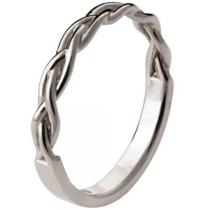 Braided Wedding Band Platinum 4