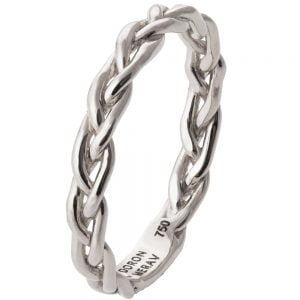Braided Wedding Band Platinum 4B