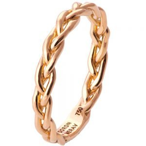 Braided Wedding Band Rose Gold 4B