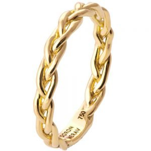 Braided Wedding Band Yellow Gold 4B
