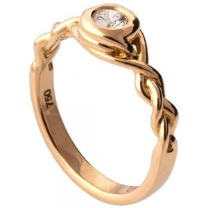 Braided Engagement Ring Rose Gold and Diamond 5