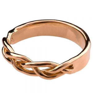 Braided Wedding Band Rose Gold 6