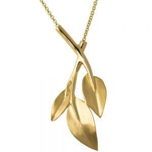 Leaves Pendant Yellow Gold