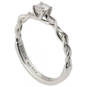 Braided Engagement Ring Platinum and Diamond 2S