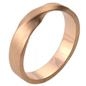 Mobius Wedding Band Rose Gold 4