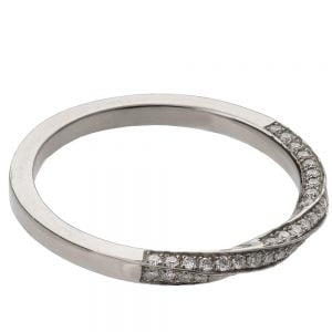 Mobius Diamond Ring Platinum 2