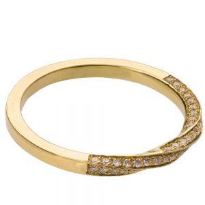 Mobius Diamond Ring Yellow Gold 2