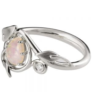 Platinum Opal Engagement Ring