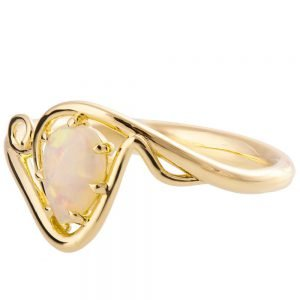 Twist Opal Engagement Ring Yellow Gold 3