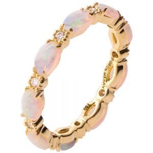 Opal Eternity Ring Yellow Gold