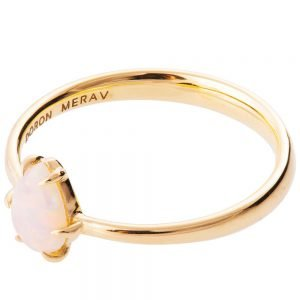 Pear Opal Ring Rose Gold 2
