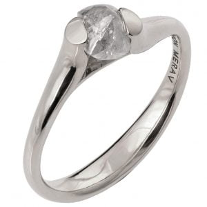 Raw Diamond Tension Engagement Ring Platinum