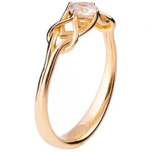 Celtic Engagement Ring Rose Gold and Diamond ENG10B