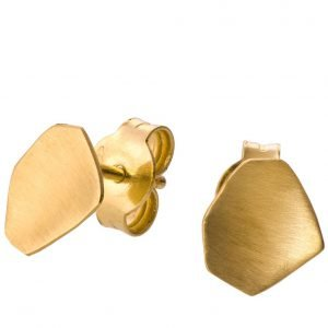 Parched Earth Earrings Yellow Gold