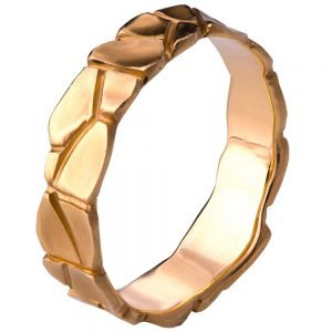 Parched Earth Wedding Band Rose Gold 6