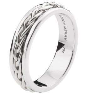 Braided Wedding Band Platinum 9