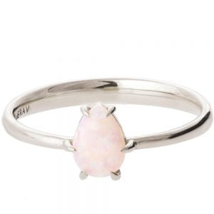 Opal Ring White Gold 2